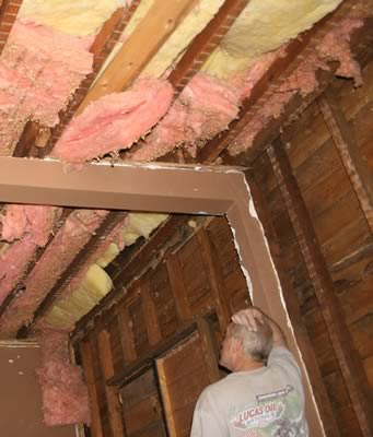Insulation - it's messy but it typically works well as an energy-saving investment